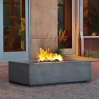 Real Flame® Baltic Rectangle Fire Table in Gray