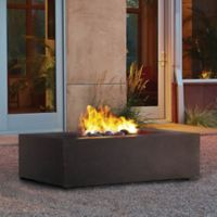Real Flame® Baltic Rectangle Fire Table in Brown