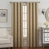 Despina 63-Inch Rod Pocket/Back Tab Window Curtain Panel in Gold