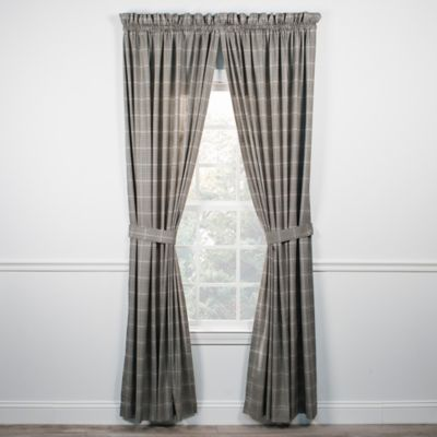 Curtains Ideas black window curtain : Buy Black Window Curtains Valances from Bed Bath & Beyond