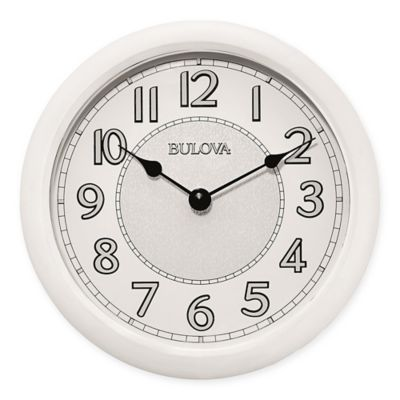 Bulova Quartz Analog with Bluetooth Technology Wall Clock in WhiteBuy Bathroom Clocks from Bed Bath   Beyond. Small Bathroom Clocks. Home Design Ideas
