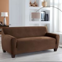 Perfect Fit® Stretch Fit Microsuede Sofa Slipcover in Cocoa
