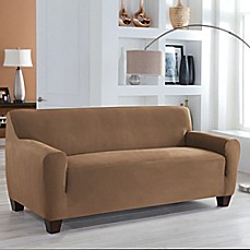 Perfect Fitu0026reg; Stretch Fit Microsuede Sofa Slipcover