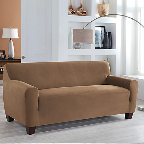 Perfect Fit 174 Stretch Fit Microsuede Sofa Slipcover Bed