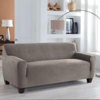 Perfect Fit® Stretch Fit Microsuede Sofa Slipcover in Grey