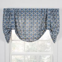 Andros Tie-Up Window Valance in Blue