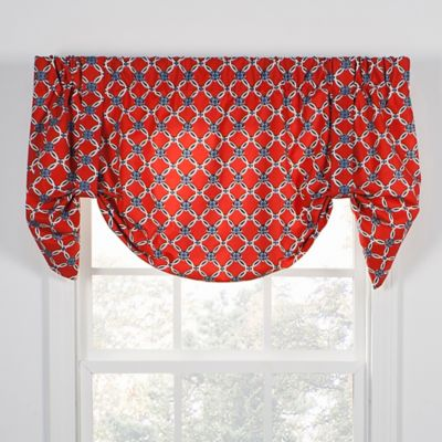 Andros Tie Up Window Valance In Red