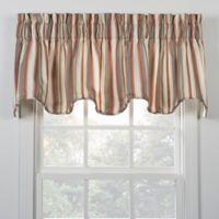 Mason Stripe Window Valance in Clay
