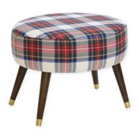 Skyline Furniture Casselberry Oval Ottoman in Multicolor