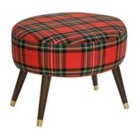Skyline Furniture Casselberry Oval Ottoman in Red