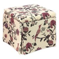 Skyline Furniture Nottingham Storage Ottoman in Shaana Holiday Red