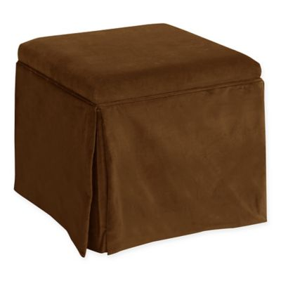 Skyline Furniture Nottingham Storage Ottoman in Regal Chocolate - Buy Chocolate Storage Ottoman From Bed Bath & Beyond