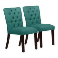 Skyline Furniture Sherwood Tufted Dining Chairs in Linen Laguna (Set of 2)
