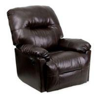 Flash Furniture Bentley Power Recliner in Brown