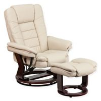 Flash Furniture Contemporary Recliner in Beige