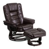 Flash Furniture Contemporary Swivel Recliner in Brown