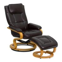 Flash Furniture Contemporary Recliner in Brown