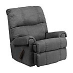Flash Furniture Flatsuede Recliner in Gray