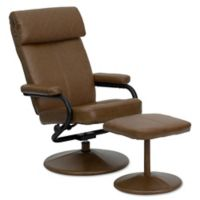 Flash Furniture Palimino Recliner and Ottoman in Brown