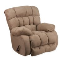 Flash Furniture Soft Suede Rocker Recliner in Taupe