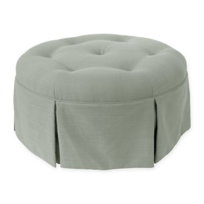 skyline furniture parshall cocktail round ottoman in swedish blue