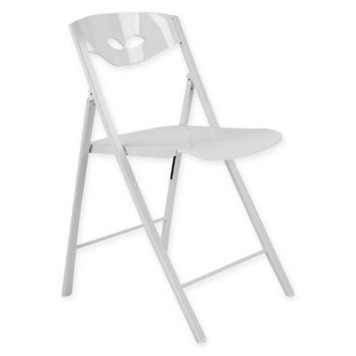 Corner Housewares Modern Folding Chairs In White (Set Of 2)