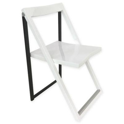 corner housewares modern folding chairs in blackwhite set of 2