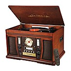 Victrola™ Aviator Wooden 7-in-1 Nostalgic Record Player with Bluetooth and Digital CD Encoding