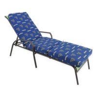 NCAA West Virginia University 3-Piece Chaise Lounge Cushion