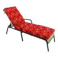 NCAA University of Georgia 3-Piece Chaise Lounge Cushion