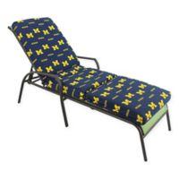 NCAA University of Michigan 3-Piece Chaise Lounge Cushion
