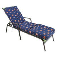 NCAA Auburn University 3-Piece Chaise Lounge Cushion
