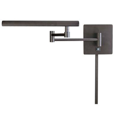 george kovacs madaske 1light wall mount swing arm light in dorian bronze - George Kovacs Lighting