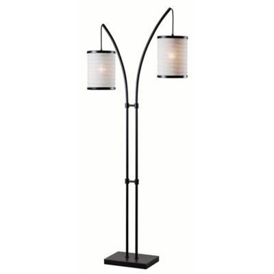 Buy paper lantern floor lamp from bed bath beyond lanterna 2 light floor lamp in oil rubbed bronze mozeypictures Choice Image