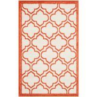 Safavieh Amherst 2-Foot 6-Inch x 4-Foot Clove Indoor/Outdoor Area Rug in Ivory/Orange