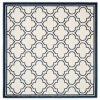 Safavieh Amherst 7-Foot x 7-Foot Clove Indoor/Outdoor Area Rug in Ivory/Navy