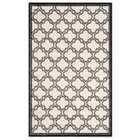 Safavieh Amherst 6-Foot x 9-Foot Indoor/Outdoor Clove Area Rug in Ivory/Anthracite