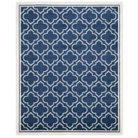 Safavieh Amherst 8-Foot x 10-Foot Clove Indoor/Outdoor Area Rug in Navy/Ivory