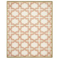 Safavieh Amherst 8-Foot x 10-Foot Derry Indoor/Outdoor Area Rug in Ivory/Light Green