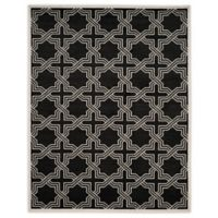 Safavieh Amherst 9-Foot x 12-Foot Derry Indoor/Outdoor Area Rug in Anthracite/Ivory