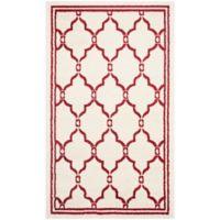 Safavieh Amherst 3-Foot x 5-Foot Quake Indoor/Outdoor Area Rug in Ivory/Red