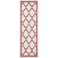 Safavieh Amherst 2-Foot 3-Inch x 7-Foot Quake Indoor/Outdoor Area Rug in Ivory/Red