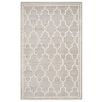 Safavieh Amherst 5-Foot x 8-Foot Quake Indoor/Outdoor Area Rug in Light Grey/Ivory