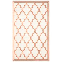 Safavieh Amherst 6-Foot x 9-Foot Quake Indoor/Outdoor Area Rug in Beige/Orange
