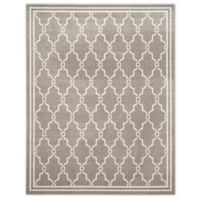 Safavieh Amherst 8-Foot x 10-Foot Quake Indoor/Outdoor Area Rug in Dark Grey/Beige
