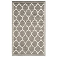 Safavieh Amherst 5-Foot x 8-Foot Links Indoor/Outdoor Area Rug in Dark Grey/Beige