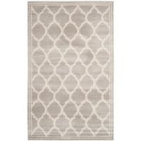 Safavieh Amherst 5-Foot x 8-Foot Links Indoor/Outdoor Area Rug in Light Grey/Ivory