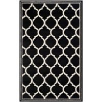 Safavieh Amherst 5-Foot x 8-Foot Links Indoor/Outdoor Area Rug in Anthracite/Ivory