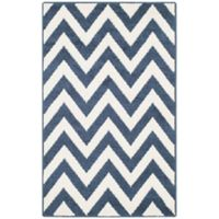 Safavieh Amherst 2-Foot 6-Inch x 4-Foot Chevy Area Rug in Navy