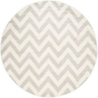 Safavieh Amherst 5-Foot x 5-Foot Chevy Area Rug in Light Grey
